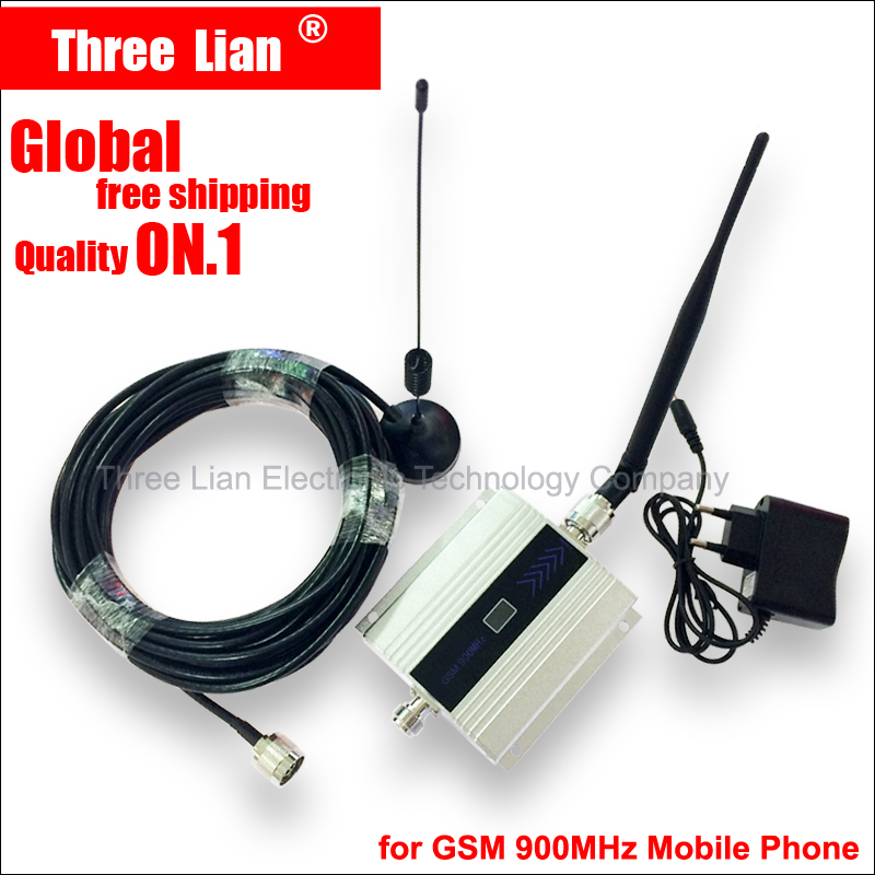 Cable+Antenna GSM 900Mhz Signal Booster Mobile Phone Signal Repeater amplifier Signal gsm booster 900mhz GSM repeater shipping(China (Mainland))