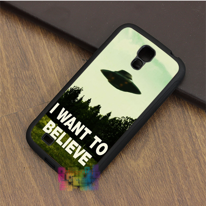 I want to believe Quote UFO Aliens fashion phone case for samsung galaxy S3 S4 S5 S6 S7 Note 2 Note 3 Note 4 #LI5501(China (Mainland))