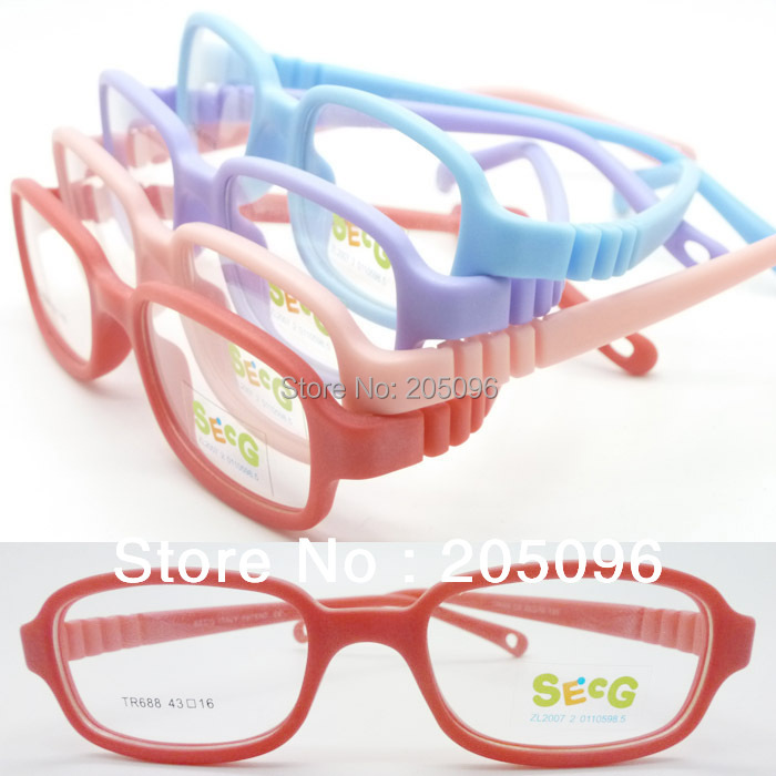 wholesale lot TR688 Kid top TR90 bendable safety squre optical frame plu adjustable strap durable pupil eyeglasses free shipping(China (Mainland))