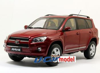 1 pcs / a lot 1:18   TOYOTA RAV4 2012 Die-cast Model Car Red