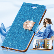 S6/ S6 Edge Glitter Bling Rhinestone Diamond Luxury Flip Case Leather Wallet Stand Cover for Samsung Galaxy S6 G9200 / s6 Edge