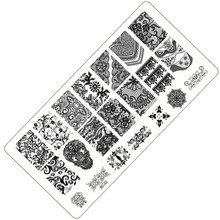 1 Sheet Lace&Flowers Series Stamping Nail Art Image Plate, 6*12cm Stainless Steel Template Polish Manicure Stencil Tools BC-02