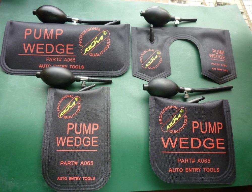 100% KLOM PUMP WEDGE Airbag 2016 New for Universal Air Wedge LOCKSMITH TOOLS Lock Pick Set.Door Lock Opener 4pcs(China (Mainland))