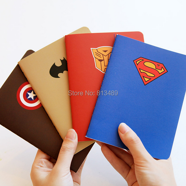 wholesale 24pcs Hero theme Notebook Stationery  Agenda Day Planner Week Plan Diary  journal office School supplies notepad r526<br><br>Aliexpress