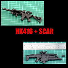 Buy 2017 2Pcs/set HK416+SCAR Soldier Figure Accessory Dragon WWII Germany Soldier Model Submachine Machine Gun Weapon Christmas gifi for $6.99 in AliExpress store