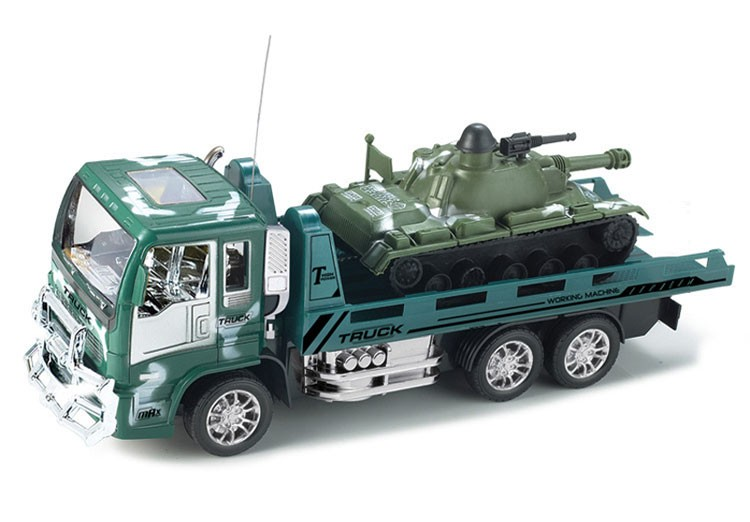 Simulation 4CH 1:18 Scale Model RC Toy Car Military Truck Set Children Electric Remote Control Toy Truck Tank Toys for Kids