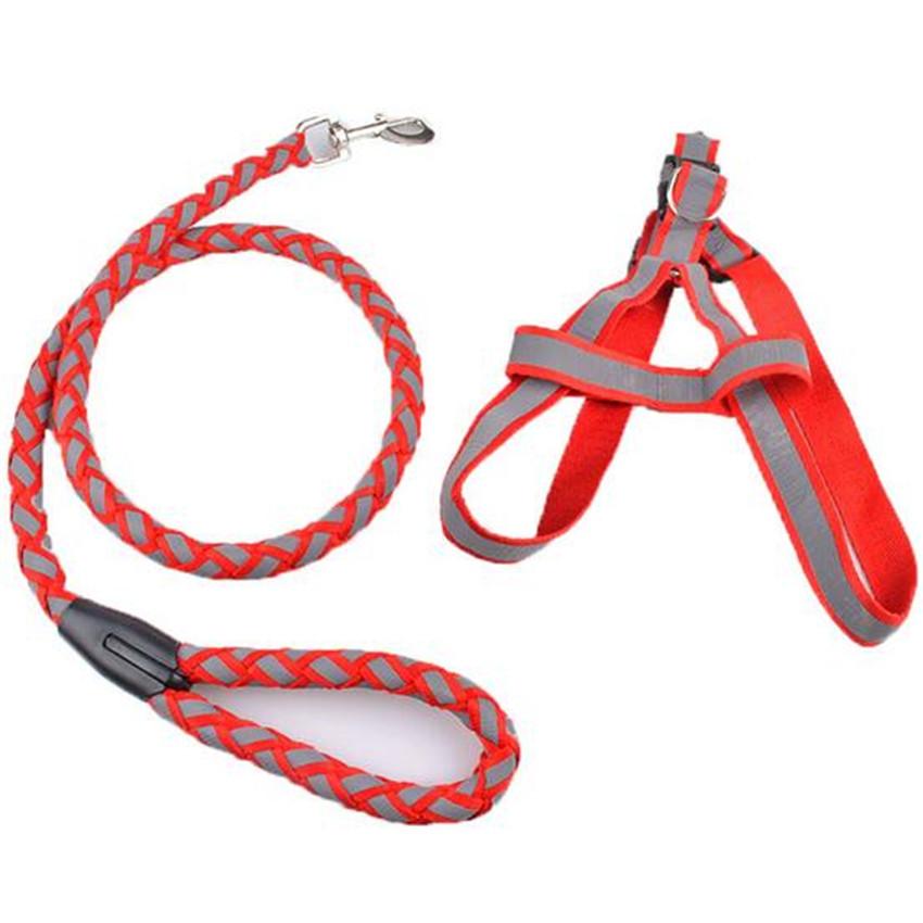 3pcs High Quality Pet Dog Reflective Leash Lead Set Puppy Products Small Medium Dog leash(China (Mainland))