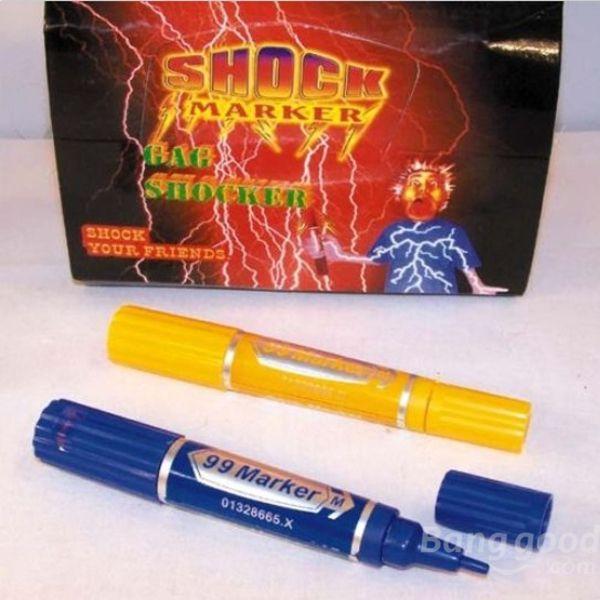 nicebid Electric Shock Trick Gag Marker Pen Toy Joke Funny Gift(China (Mainland))