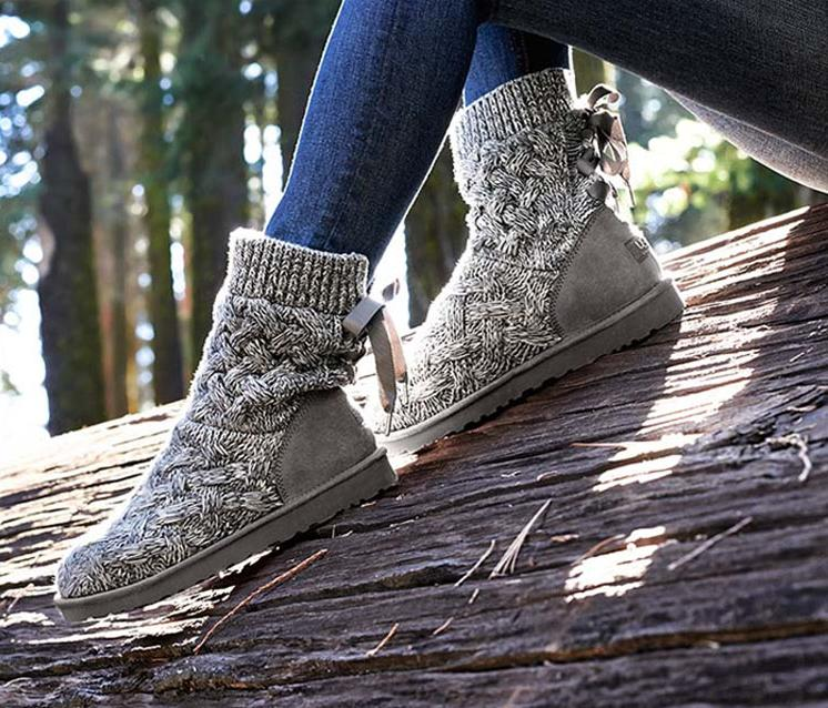 New Lady Brand Designer Australia Snow Boots Women Outdoor Knitting Wool Ankle Shoes Girl Fashion Round Toe Lace Up Winter Boots(China (Mainland))