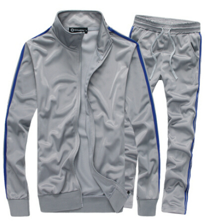 2015 новое поступление осень / зима мужчины спортивный костюм свободного покроя мода твердые мужские костюмы ml XL XXL 3XL 4XL 5XL