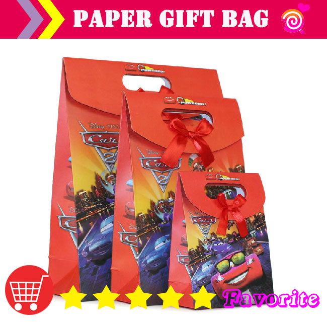 2014HOT paper cake bags /CARS paper bagg / caton bag/factory paper ba g/ red b ag cooler/packing bag#100164small(China (Mainland))