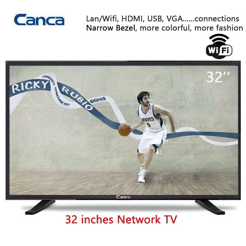 Free Shipping Canca 32inches Internet TV Multi-Interface Wifi Monitor Eyecare Elegant Narrow Online education Simple Operation(China (Mainland))