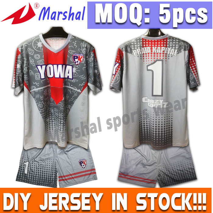 100% Polyester OEM Supply Unisex Jerseys Sublimation Team Kits Football Wear(China (Mainland))