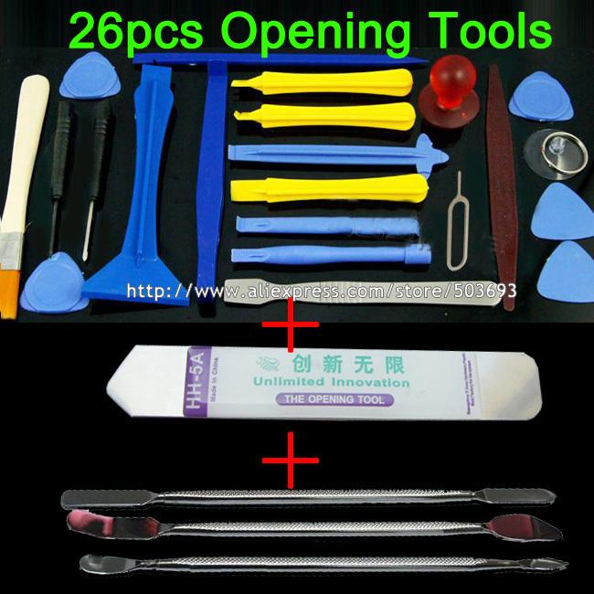 Free Ship 26pcs set 2015 New Opening Tools Repair Disassemble Soft SS Tool For iPhone iPad
