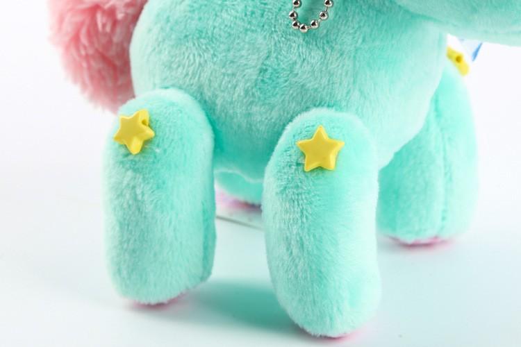 New style Cartoon sanrio gemini unicorn doll plush toy horse  pendant bags pendant kids toys for gifts