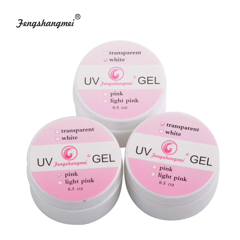 fengshangmei 15ml Professional UV Gel for Nail Extension Clear Nail Builder Gel(China (Mainland))