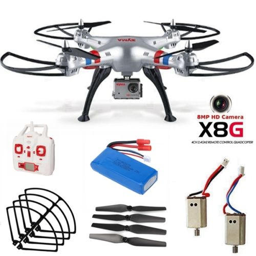 Syma X8G 2.4G 4CH 6-Axis 360 Flip 8MP Wired HD Camera Headless Mode RC Drone