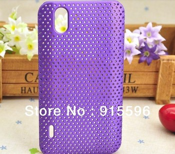 Promotion Back Hard Case For LG P970 Cell Phone 9 Color Hole Net Cover  Free Shipping