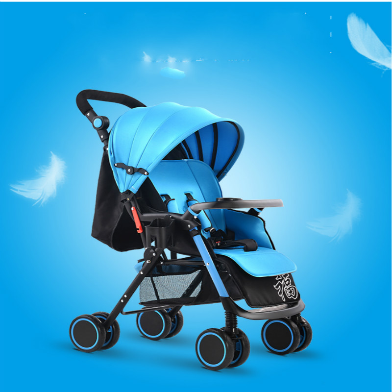 Фотография Baby stroller light push baby car four wheel folding baby bb car umbrella