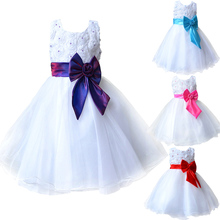 2016 Hot Flower Girl Dresses for Weddings Pageant White First Holy Lace Communion Dress Little Toddler Junior Child Bridesmaid(China (Mainland))