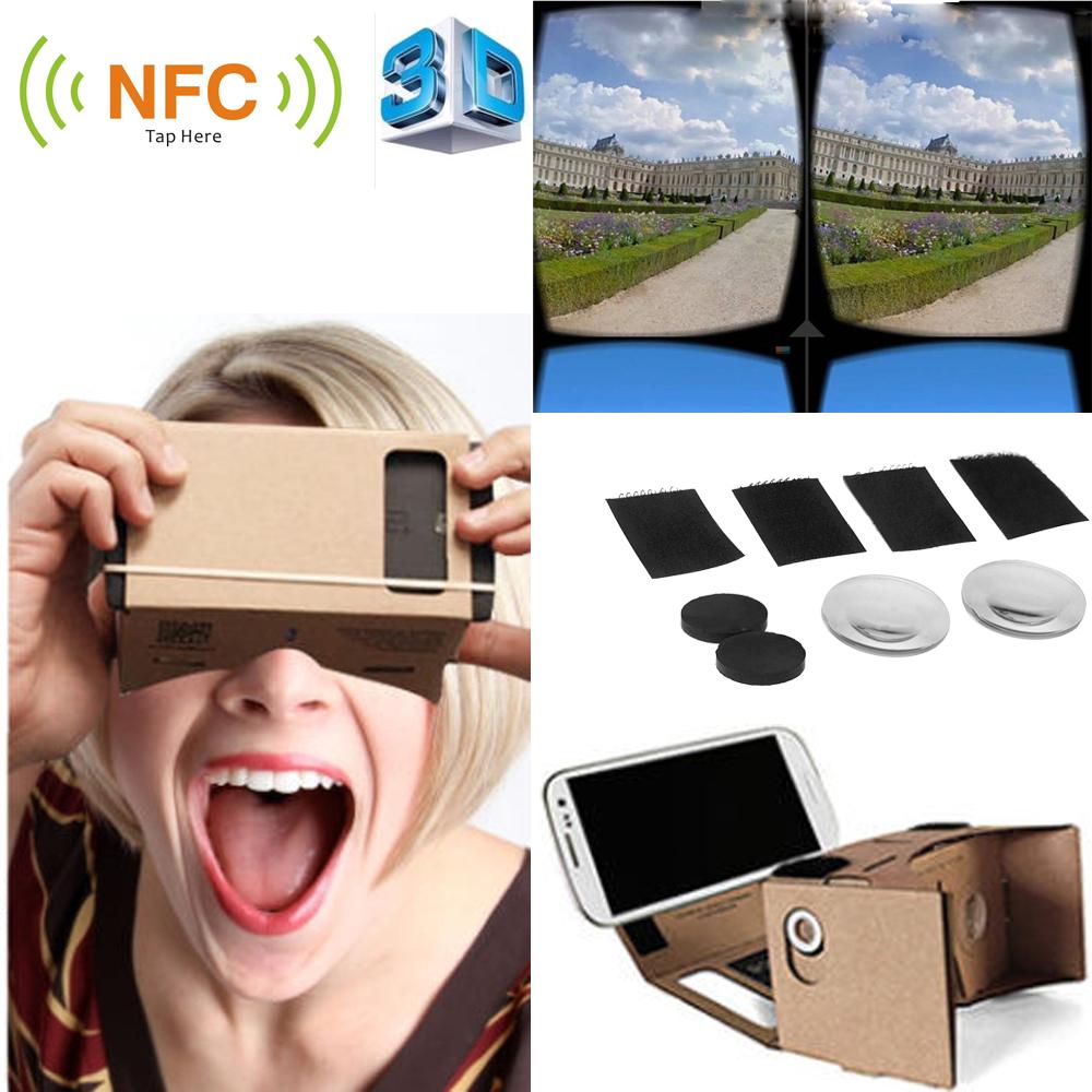 DIY Google Cardboard VR Box Virtual reality Glasses Mobile Phone 3D NFC Tag 5.0 inch Screen - ShenZhen Electronics-Mall store