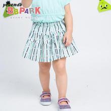 Yauamdb baby skirt 2016 new arrive summer brand clothing Cotton Lady Elastic waist short skirts girls stripe cupcake skirts   70(China (Mainland))