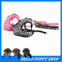 2015 Новый Собака Ведет Поводок Ошейники Регулируемый Хлопок Розовый Черный Цвет для Средний Большой Собак Pet Products Бесплатная Доставка