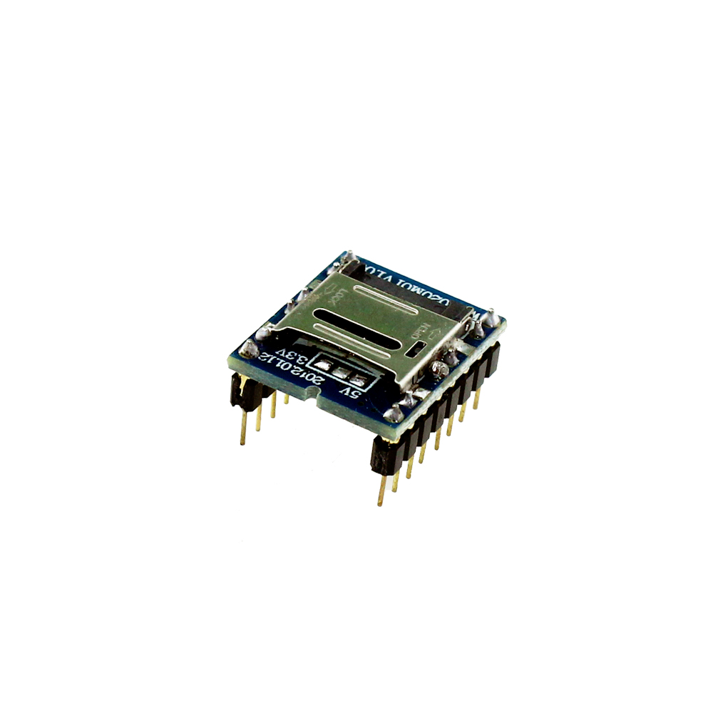 Free Shipping WTV020 WTV020-SD WTV020SD-20SS Mini SD Card MP3 Sound Module For PIC WTV020-SD-16P(China (Mainland))