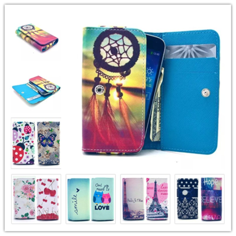 2015 New item Painting Leather Phone Cases Ebest U5581 Wallet Style Card Slot Back Cover Case Dirt-resistant  -  JUNKUN store