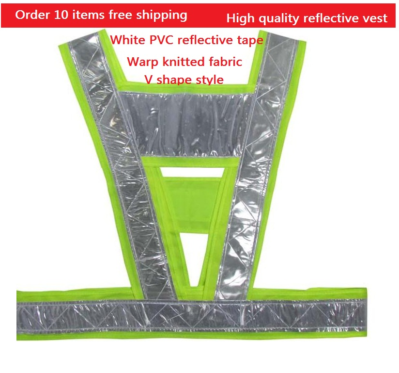 Reflective safety vest V-shape reflective Police highways warning clothing<br><br>Aliexpress