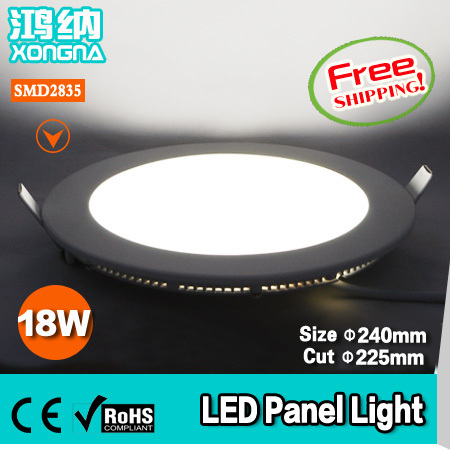 AC85~265V 18W LED Panel Light With 180pcs Super Bright SMD2835 100~110LM/W 18W LED Ceiling Light  Cold/Warm White<br><br>Aliexpress