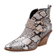 Bonjomarisa Tây Cổ Chân Giày Người Phụ Nữ Anh Lạ Giày Cao Gót Mũi Nhọn Khóa Trang Trí Khóa Kéo Cổ Chân Giày Người Phụ Nữ Size 34-44(China)