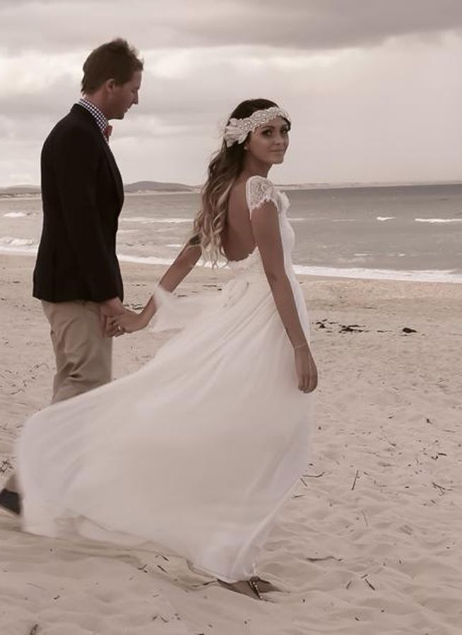vintage style beach wedding dresses