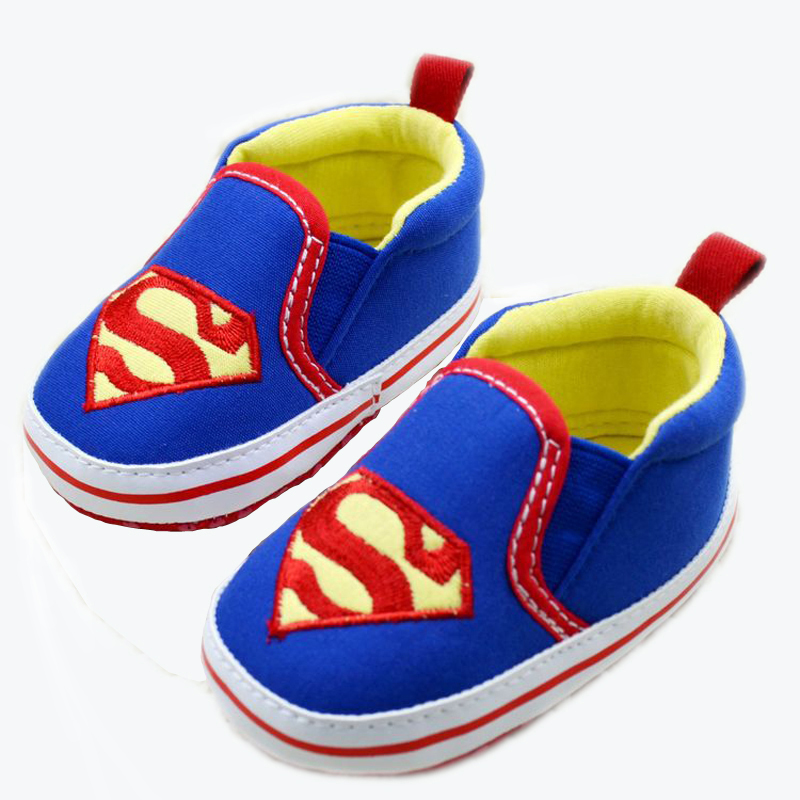 Hot selling Superman baby shoes boys girls toddler shoes soft bottom infant shoes months blue sale(China (Mainland))