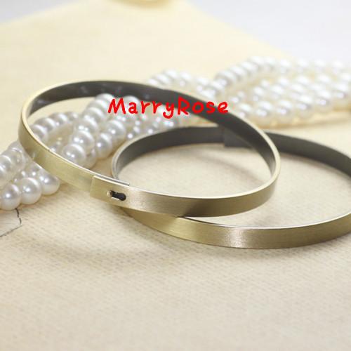 10pcs 60mm Brass/Copper Blank Cuff Bangle Bracelet Jewelry Free shipping