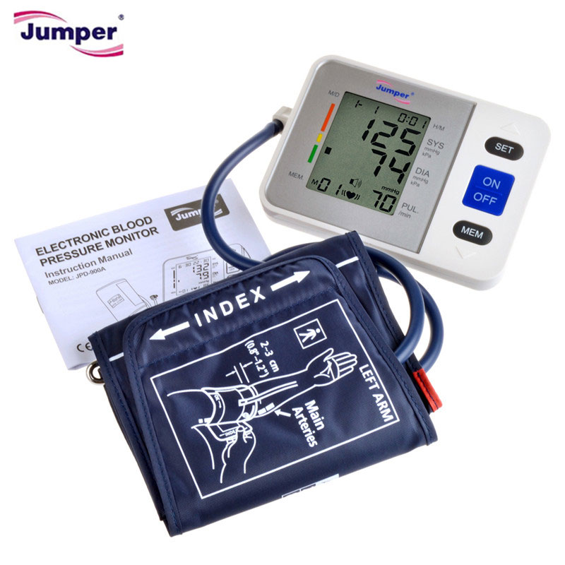 Jumper Automatic Digital Arm Blood Pressure Monitor Meter Cuff Sphygmomanometer tensiometros Meter portable tonometer