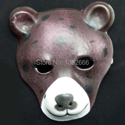 12PCS bear mask ,big full face soft animal EVA mask party mask(China (Mainland))