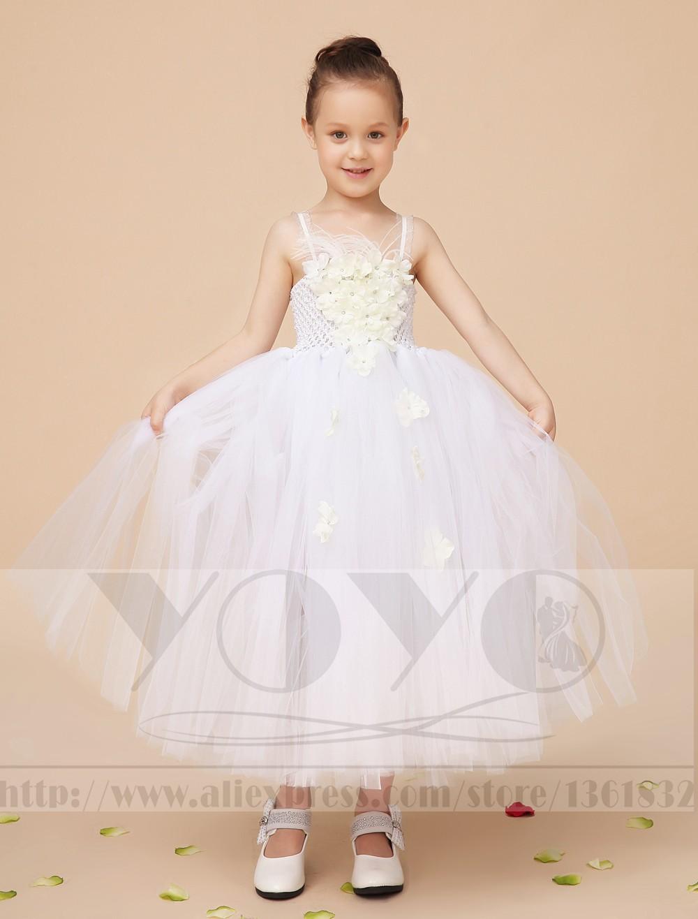 Скидки на Мода кот маленькие девочки принцесса платья с аппликациями элегантный формальные свадебное цветок платья дети театрализованное платья