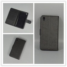 Sony Xperia E5 F3313 F3311 Lichi Texture Leather Case Pouch Flip case 2 Card Holder pouch slot - small grocery store111 store