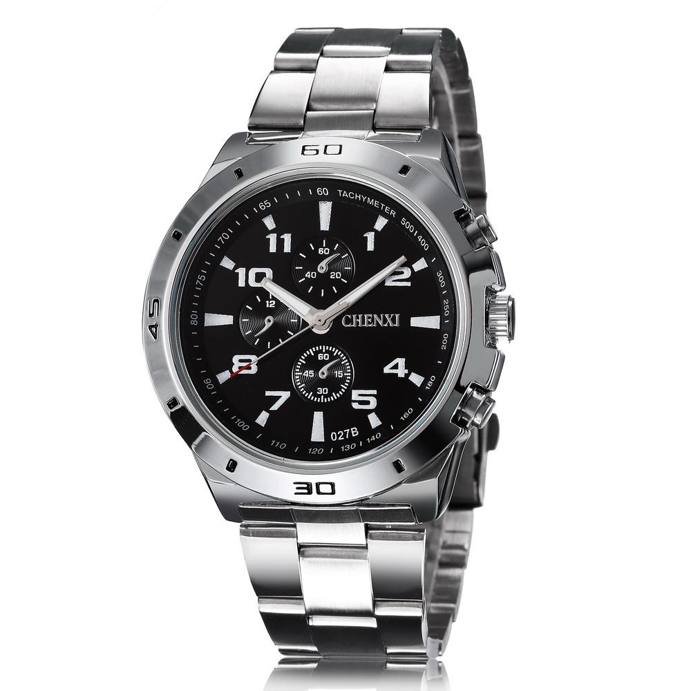 New Fashion 2015 Brand CHENXI Military Tachymeter Sports Watches Men Full steel Business Dress Quartz Watch Relogios Masculinos
