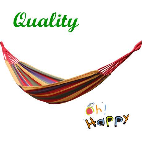 Outdoor Camping Single Hammock Swing thick canvas Leisure Hammock Tourism 200*80 CM Free Shipping(China (Mainland))