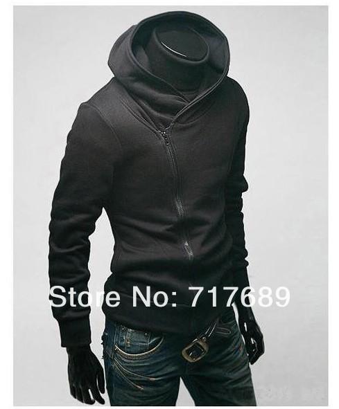 2013 fashion coat Men stayed casual hooded Sweatshirts Korean version Slim black cardigan hoodies jacket - Sexy Queen's store
