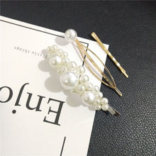 3pcs / set Metal Hair Clips Women pearl Hairpin Girls Hairpins Pin Bobby Pin Hairpin Hair Accessories Drop ship New Arrival(China)