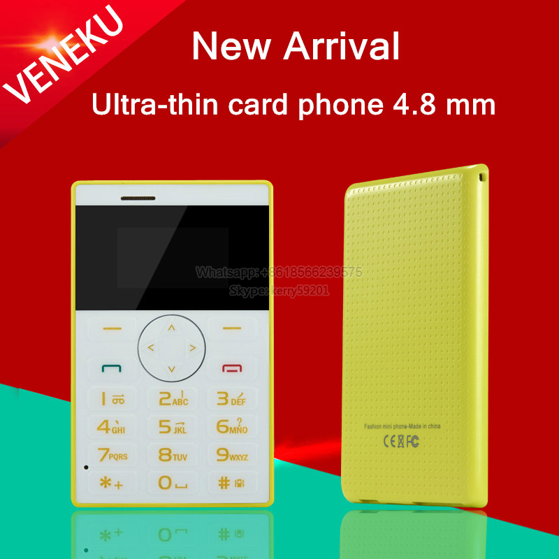 2015 unlocked Italian,Arabic,Swedish small MP3 FM kids girls mini Ultrathin credit card phone portable cell mobile phone V1 P247(China (Mainland))