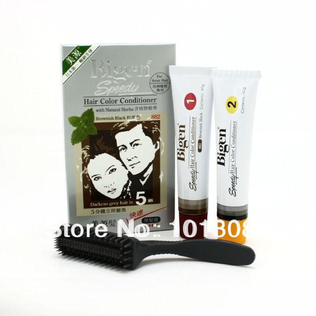 Япония Bigen скоростные цвет кондиционер # 882 ( буровато-черные ) волосы Dye1Set
