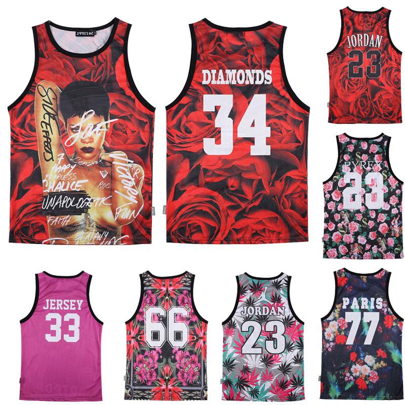 2015 hipster brand men women 3d tank tops Grid sports vest Jordan 23 Harajuku bodybuilding singlet Basketball swag emoji clothes - 5Star store