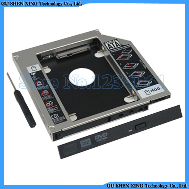 """2.5"""" SATA Aluminum 2nd Hard Disk Drive SSD HDD Caddy Adapter bay for Dell XPS L501X L502X L521X L701X L702X Laptop(China (Mainland))"""