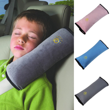 Useful Auto Safety Seat Belt for Children Protection Shoulder Pad Cover Cushion Head Neck Rest Pillow Car Comfortable Seat Cover