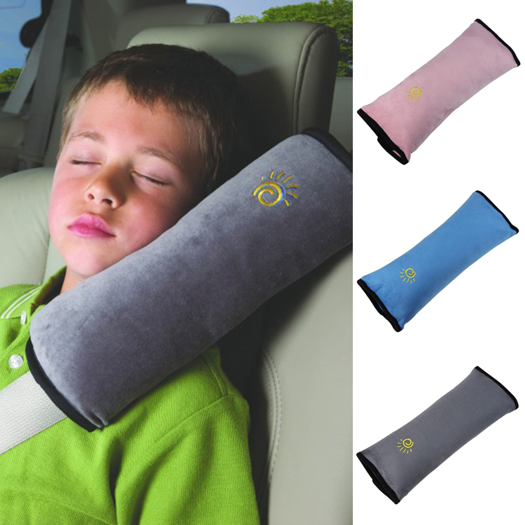 Useful Auto Safety Seat Belt for Children Protection Shoulder Pad Cover Cushion Head Neck Rest Pillow Car Comfortable Seat Cover(China (Mainland))