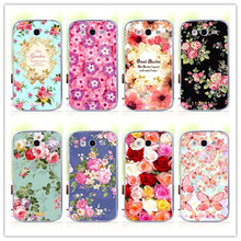 2016 Luxury Floral Painted Case For Samsung Galaxy S3 GT-i9300 Neo DUOS i9300i Cover Art printed Flower Cell Phone Case+Free Pen(China (Mainland))